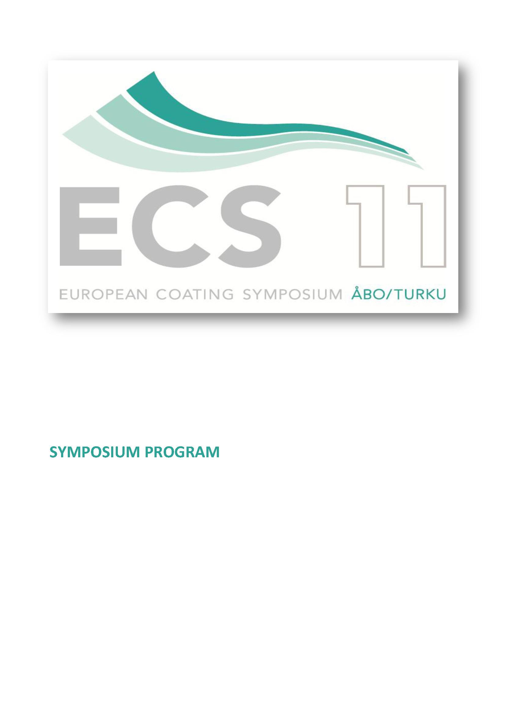 Ecs 2011 European Coating Symposium Click The Picture To Enlarge Image